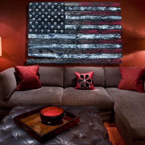 3D American Flag, Limited Edition Grunge version, Weathered Wood,  Wooden, vintage, art, distressed, red, blue, white, wall art, home decor