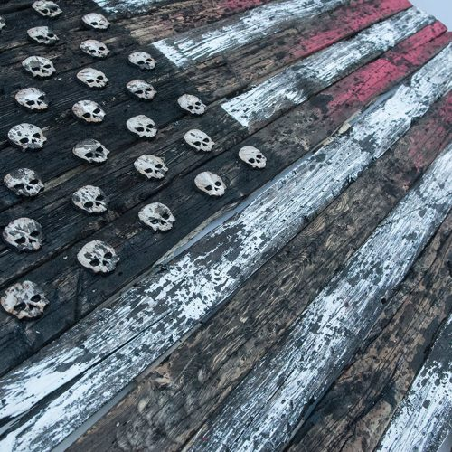 3d american flag limited edition grunge version weathered wood wooden vintage