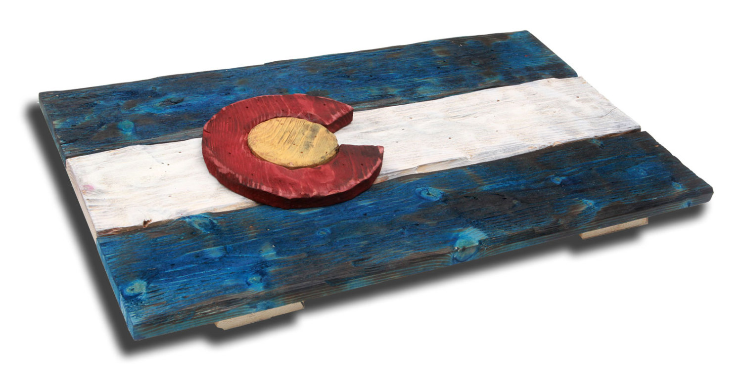 3D Colorado flag, Distressed Wood, Wooden, vintage, art, Denver Flag ...