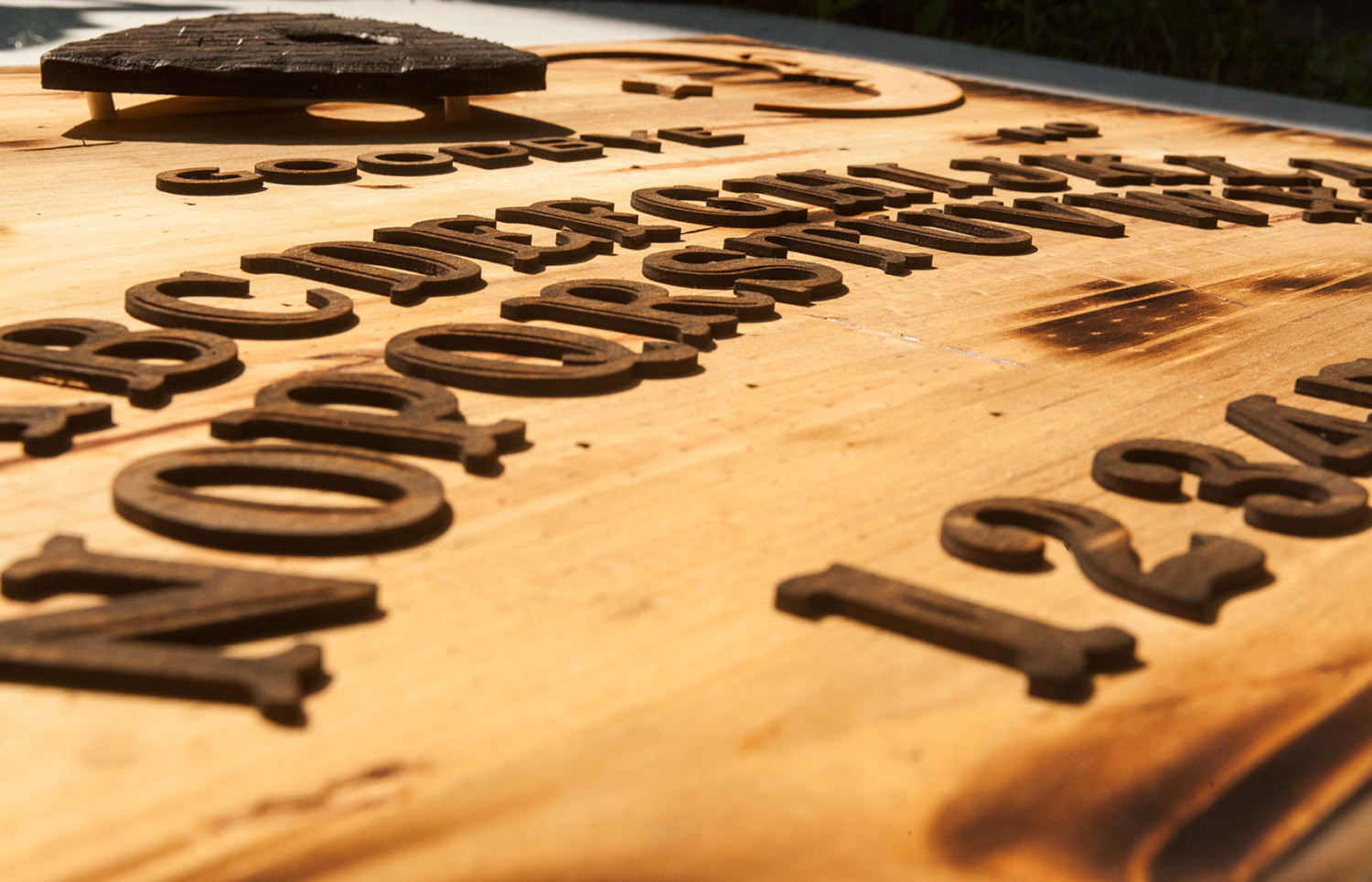3D sculptured wall hanging wooden Ouija board Art., rustic, sepia ...