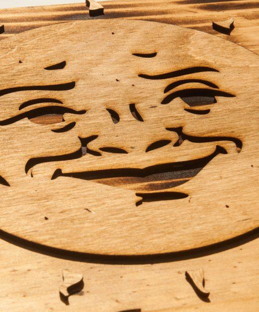 3d Sculptured Wall Hanging Wooden Ouija Board Art