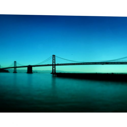 A stunning 24x55 x 1.5 museum quality canvas print taken of the Bay Bridge in San Francisco CA