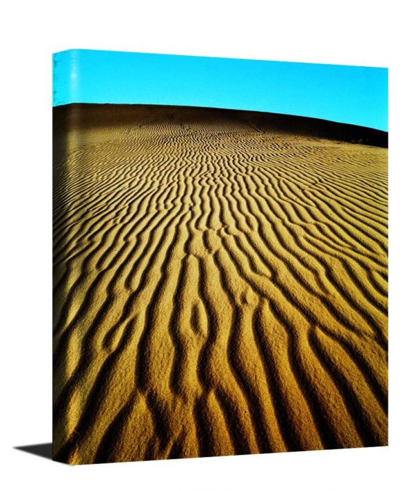 A stunning photo museum quality canvas gallery wrap of an original photograph I took in the sand dunes in Death Valley CA.