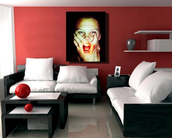 A stunning photo museum quality canvas gallery wrap.  Photography, Canvas Print, Censorship, photo, color, red, conceptual