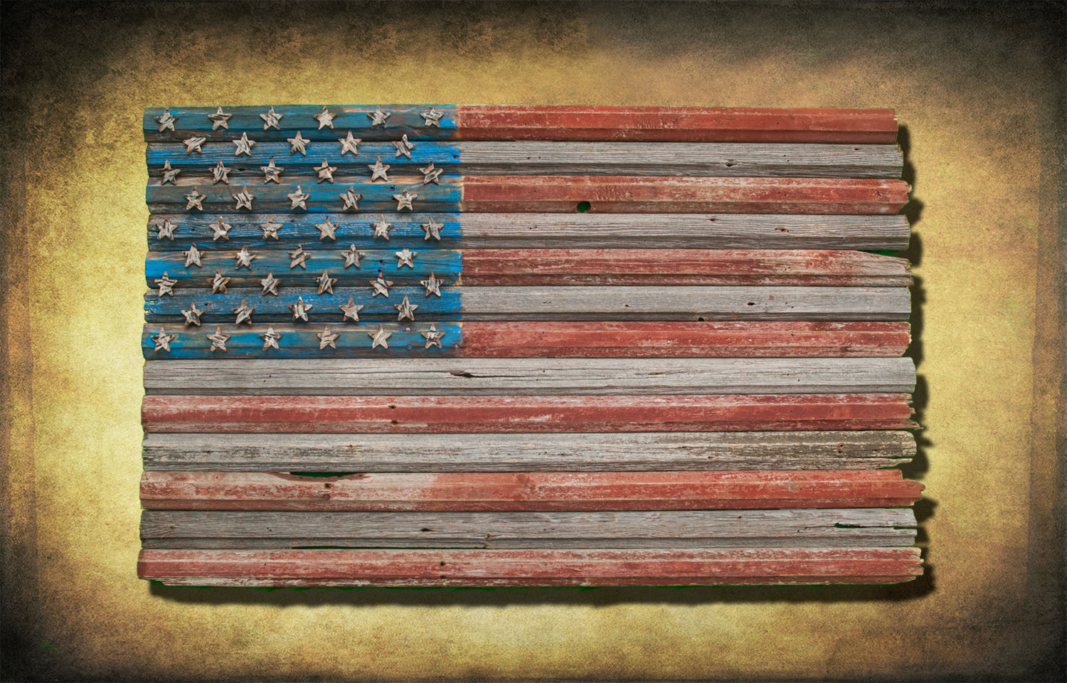 Red Wooden Wall Decor : American flag reclaimed barn wood one of a kind d