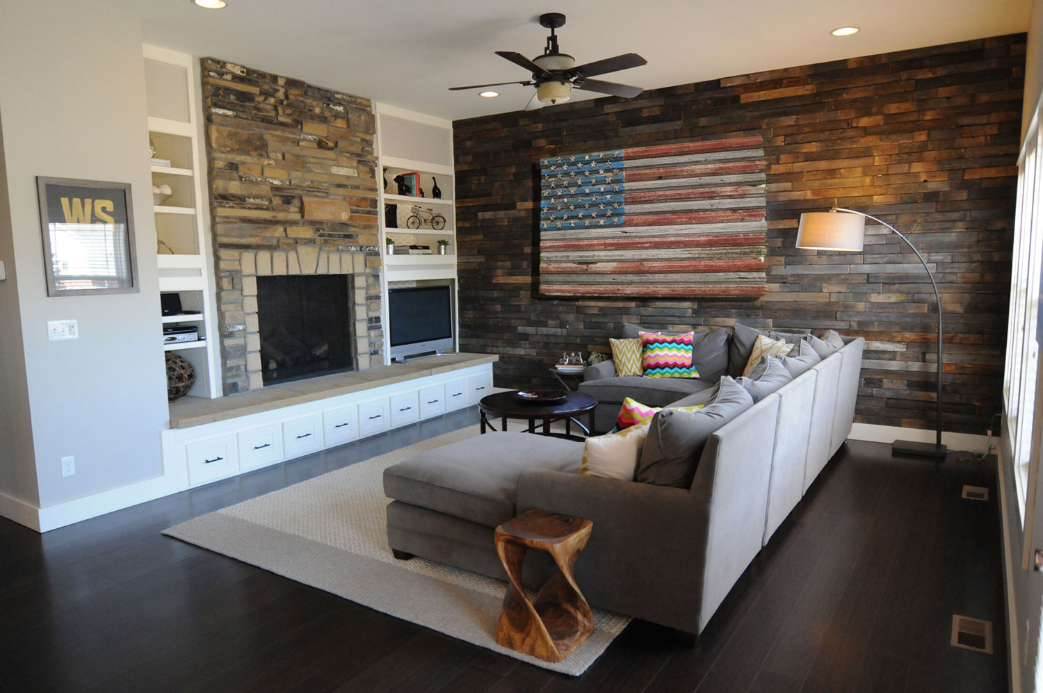 American Flag, Reclaimed Barn Wood, One Of A Kind, 3D, Wooden,