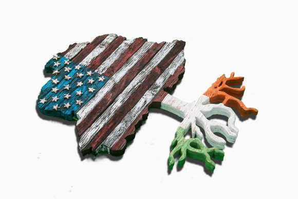 American flag tree with root flag of any country, USA, Heritage, Patriotic, United States, Irish, Ireland flag, Red white blue, 4th of July