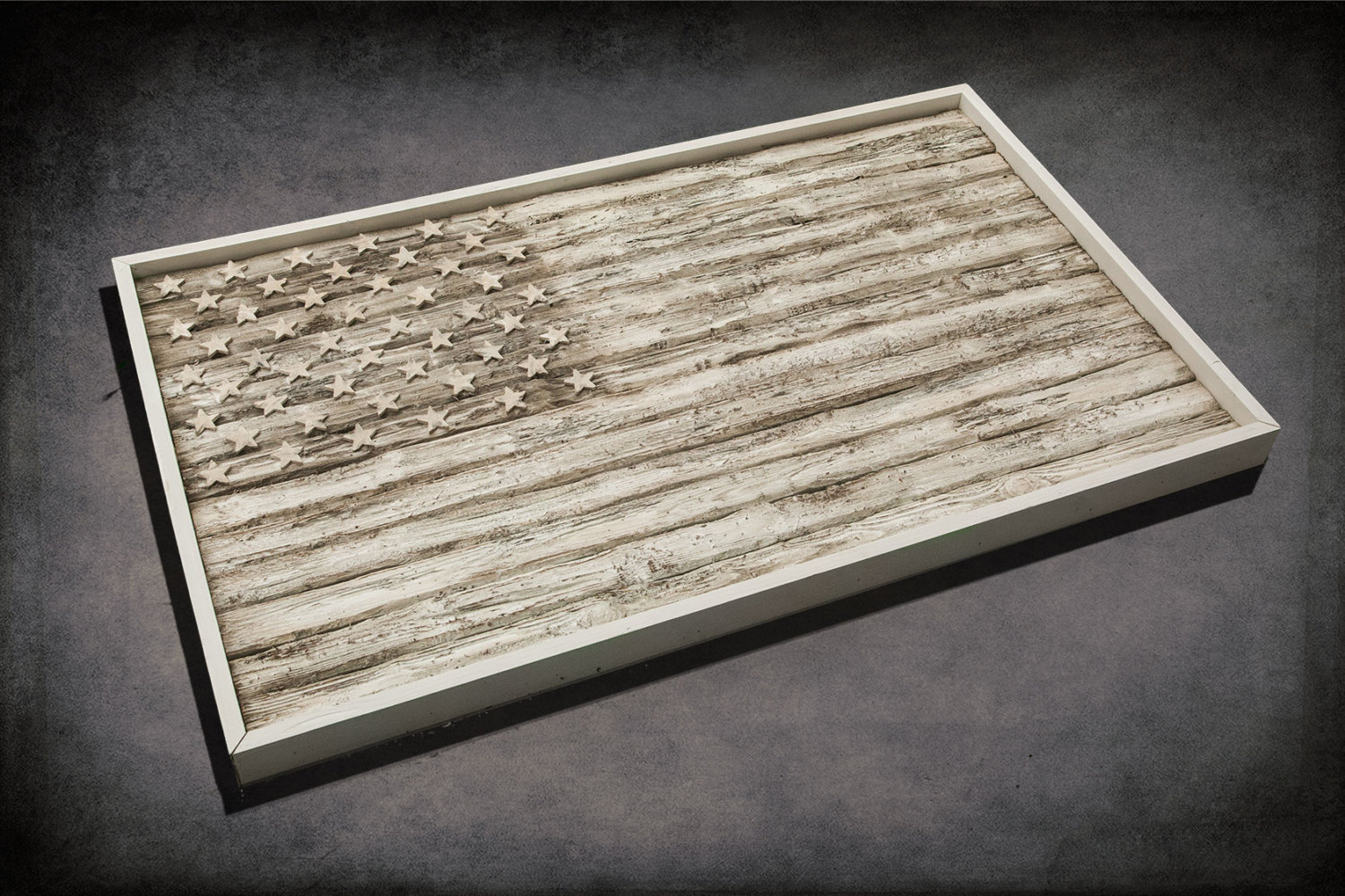 American Flag Weathered Wood One Of A Kind 3d Wooden Vintage Art Distressed Red Blue White Patriotic Wall Art Usa Home Decor
