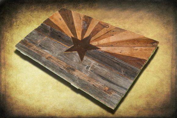 Barn wood Arizona Flag, Handmade, distressed natural Wood, vintage ...