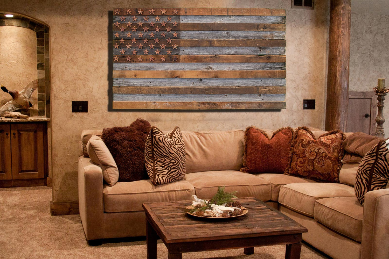 Barnwood American Flag, 100 year old Wood, One of a kind, 3D, Wooden ...
