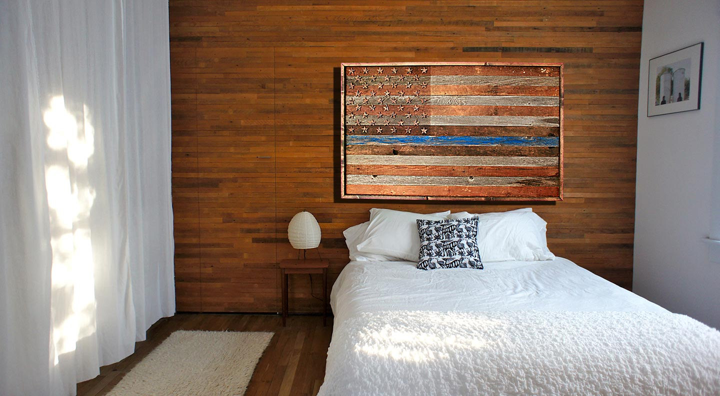 Barnwood Thin Blue Line American Flag 100 Year Old Wood One Of A Kind