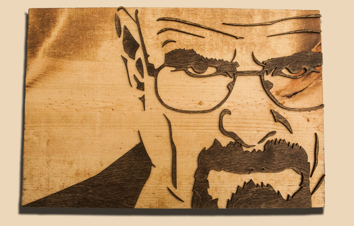Breaking Bad 3D sculptured wall hanging wooden art. Walter White ...