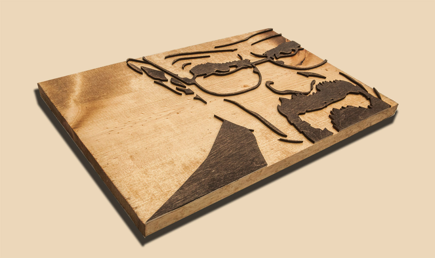 Breaking Bad 3D Sculptured Wall Hanging Wooden Art. Walter