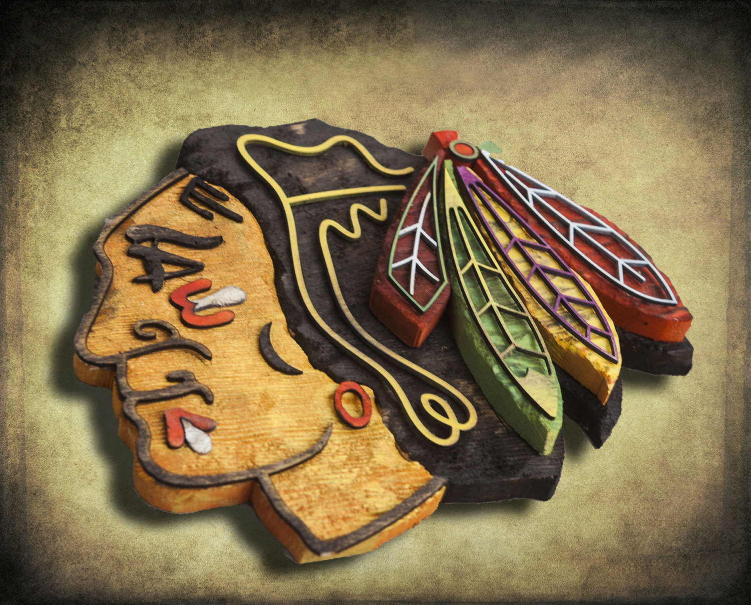 Chicago Blackhawks Handmade Distressed