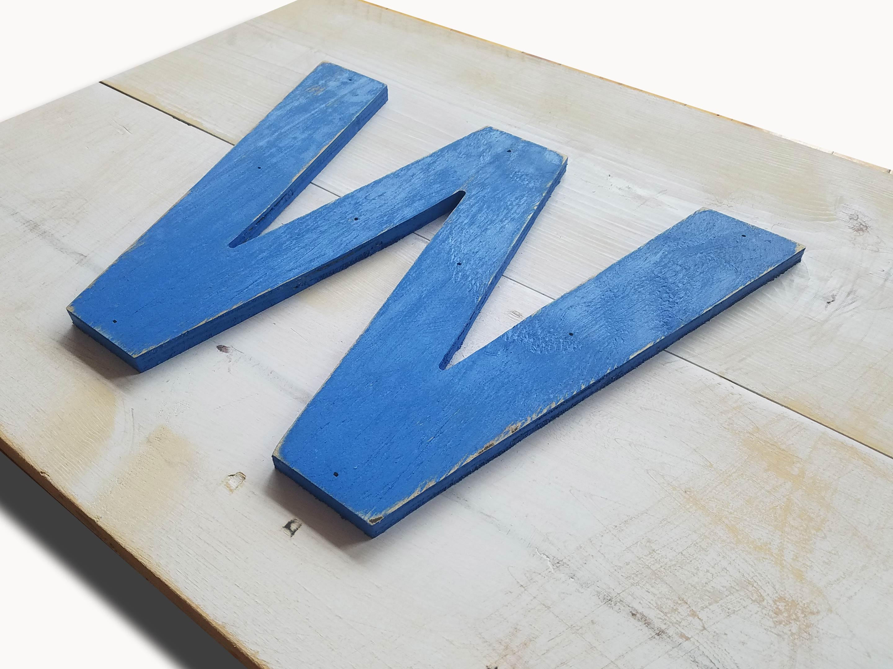 Chicago Cubs Handmade Distressed W For The Win Wood Sign Vintage Art Weathered Recycled Baseball Home Decor Wall Art Man Cave Blue