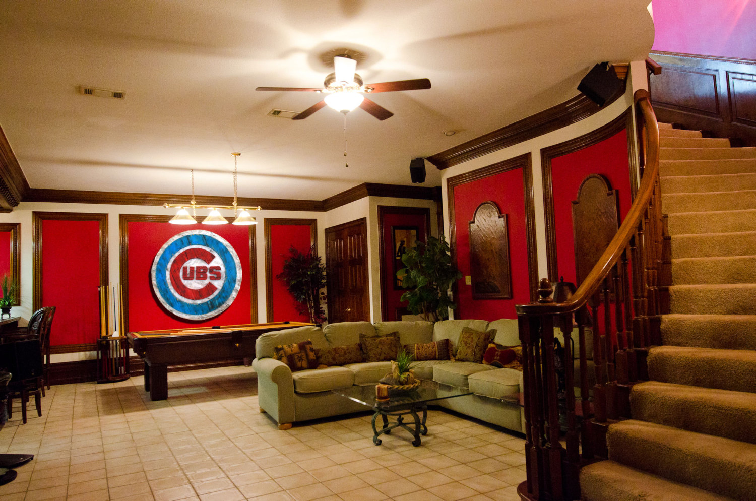 Man Cave Wall Decor : Chicago cubs handmade distressed wood sign vintage art
