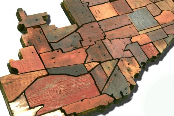 Chicago neighborhood Map from Reclaimed Barn Wood, recycled, reclaimed woo map, vintage, rustic fine art one of a kind piece.