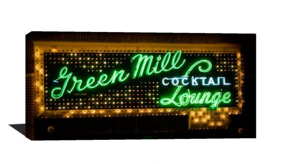 Chicago photography, wall art, green, photo, Green Mill, Green ...