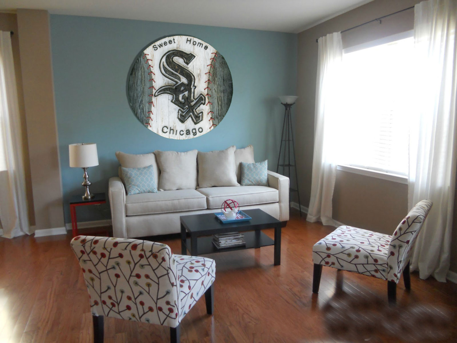Chicago White Sox Handmade Distressed Wood Sign Vintage Art