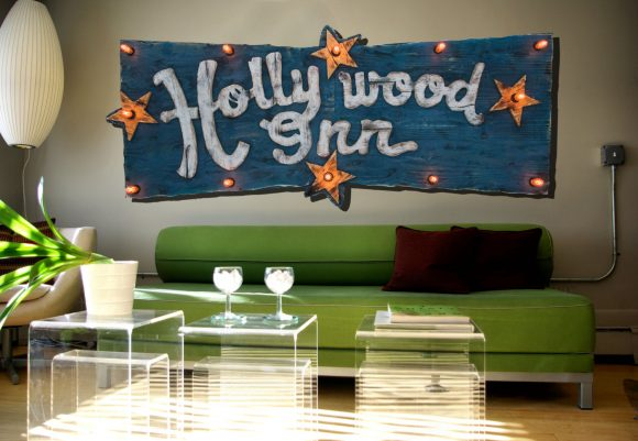 Custom light up sign for your home or store, distressed, antique, barn wood, recycled, hollywood, rustic, red. orange