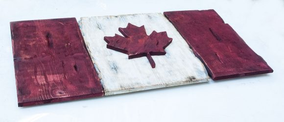 Distressed Wood One of a kind Canadian Flag, Maple Leaf, L'Unifolie, vintage, art, red, weathered, Montreal, antique, home decor, wall art