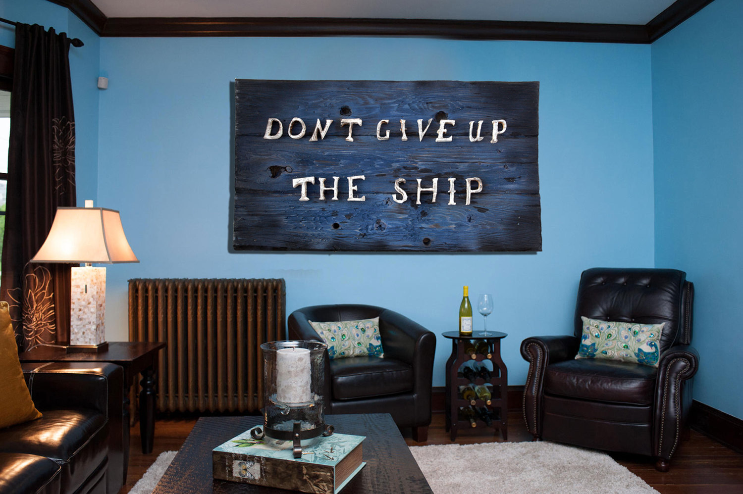 Donu0027t Give Up The Ship, Original Version, Distressed Wood, Home Decor