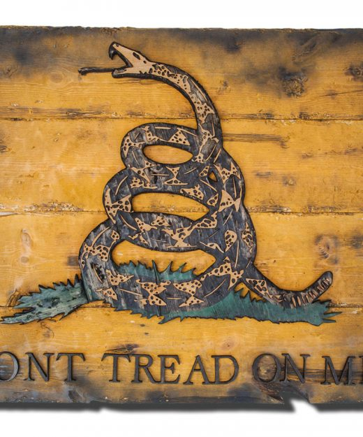 Gadsden Flag, Don't Tread On Me, Limited Edition, Weathered Wood One of a kind ,vintage, art, distressed, weathered, recycled, snake, yellow