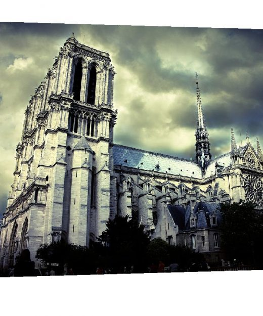 Gallery wrap, Gargoyle, Notre Dame Cathedral, Paris decor, Paris France, eiffel Tower, Europe, Black and White photogrphy, Travel photograph