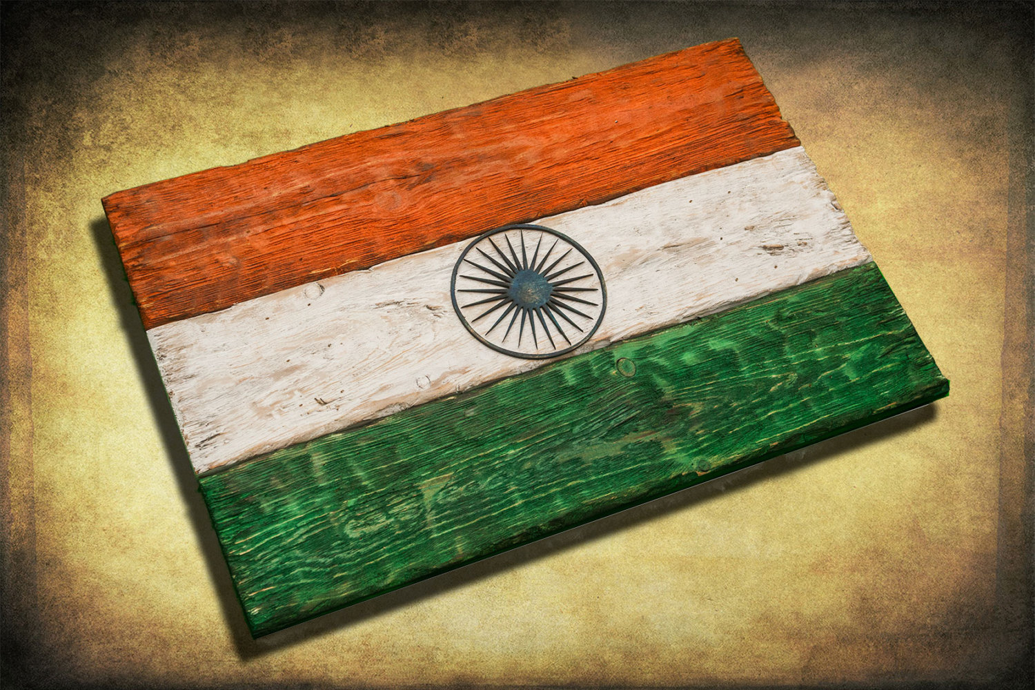 Handmade Distressed Wooden Flag Of India Vintage Art Distressed Weathered Recycled Croatia Flag Art Home Decor Wall Art Recycled