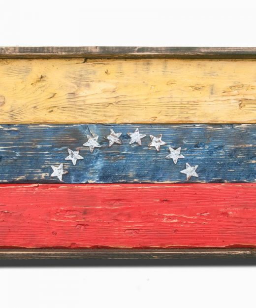 Handmade, Distressed Wooden venezuela Flag, vintage, distressed, weathered, recycled, venezuela flag art, home decor, Wall art, recycled
