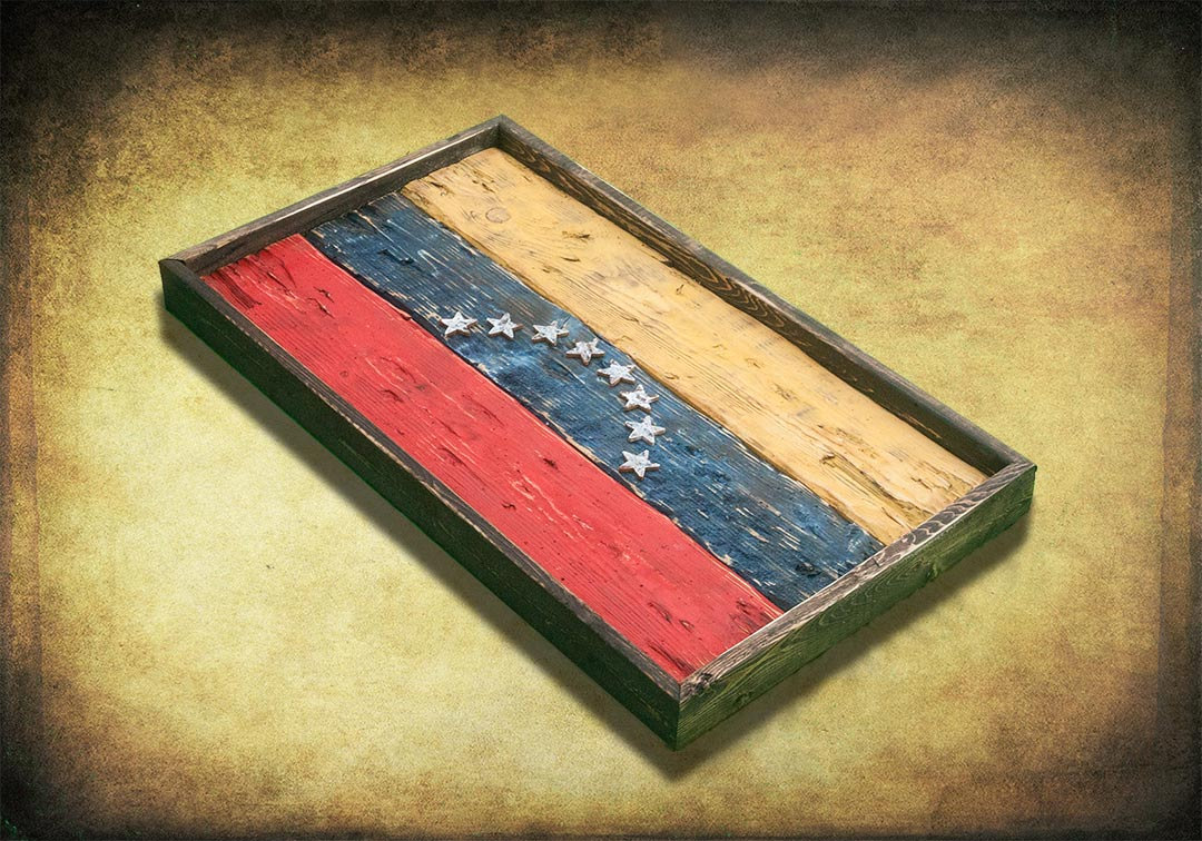 Handmade, Distressed Wooden venezuela Flag, vintage, distressed ...