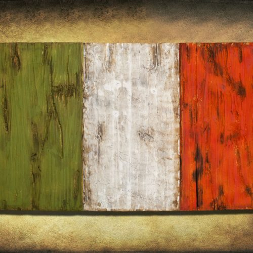 Irish flag, Weathered Wood One of a kind, Wooden, vintage, art, distressed, weathered, recycled, Orange, Green, home decor, Ireland, man cav