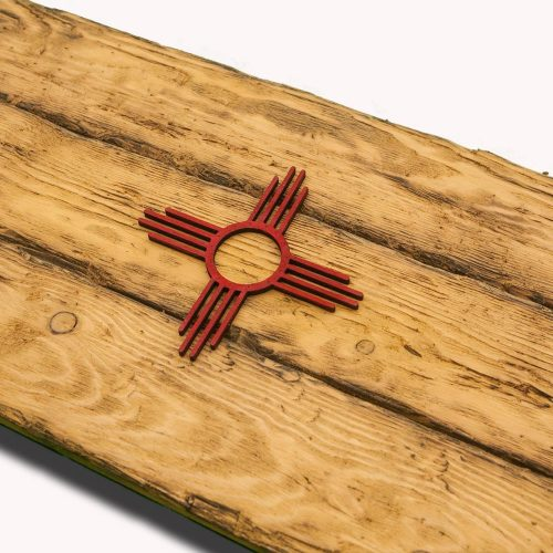 New Mexico State Flag, Handmade, Distressed Wooden ,vintage, art, distressed, weathered, recycled, home decor, Wall art, reclaimed, Blue