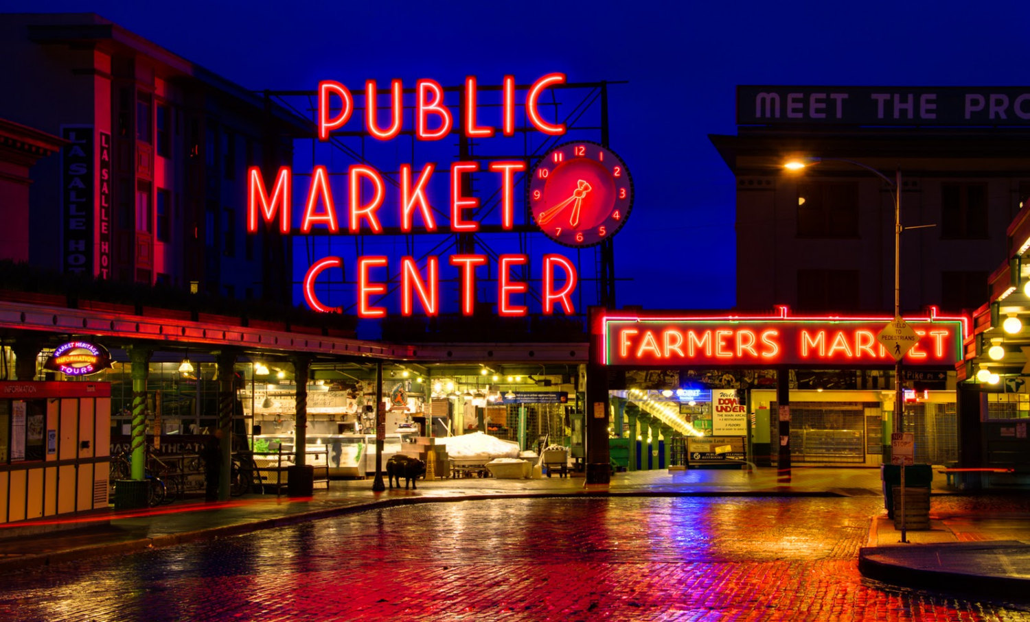 Pikes Place Market Seattle A Light Up