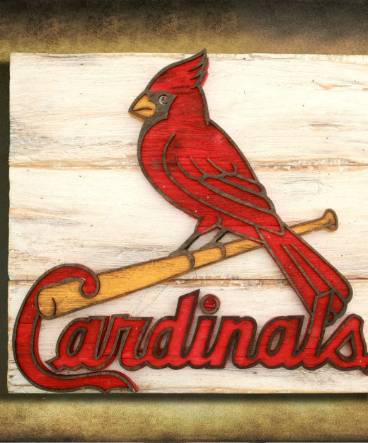 Saint Louis Cardinals Handmade distressed wood sign, vintage, art, weathered, recycled, Baseball, home decor, Wall art, Man Cave, Blue, Red