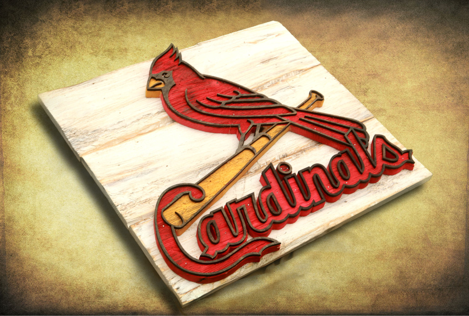 Saint Louis Cardinals Handmade Distressed Wood Sign Vintage Art