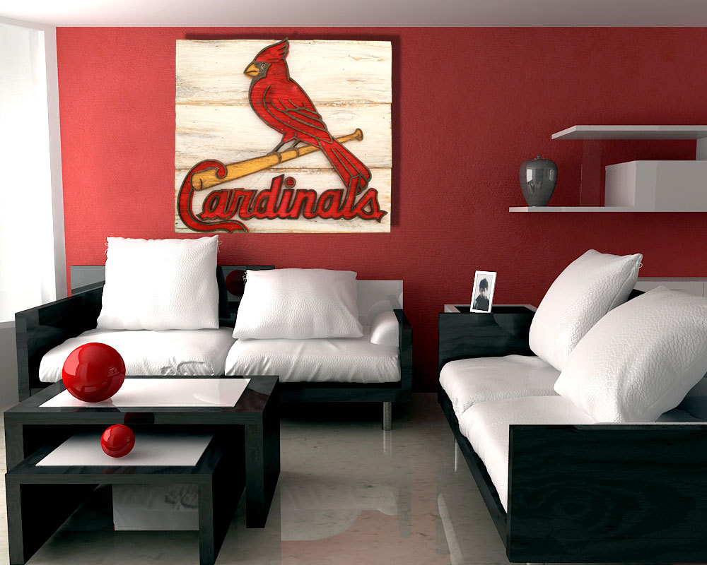Man Cave Art Decor : Saint louis cardinals handmade distressed wood sign