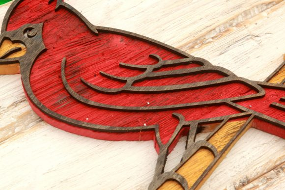 Saint Louis Cardinals Handmade Distressed Wood Sign Vintage Art Weathered Recycled Baseball Home Decor Wall Art Man Cave Blue Red Chris Knight Creations