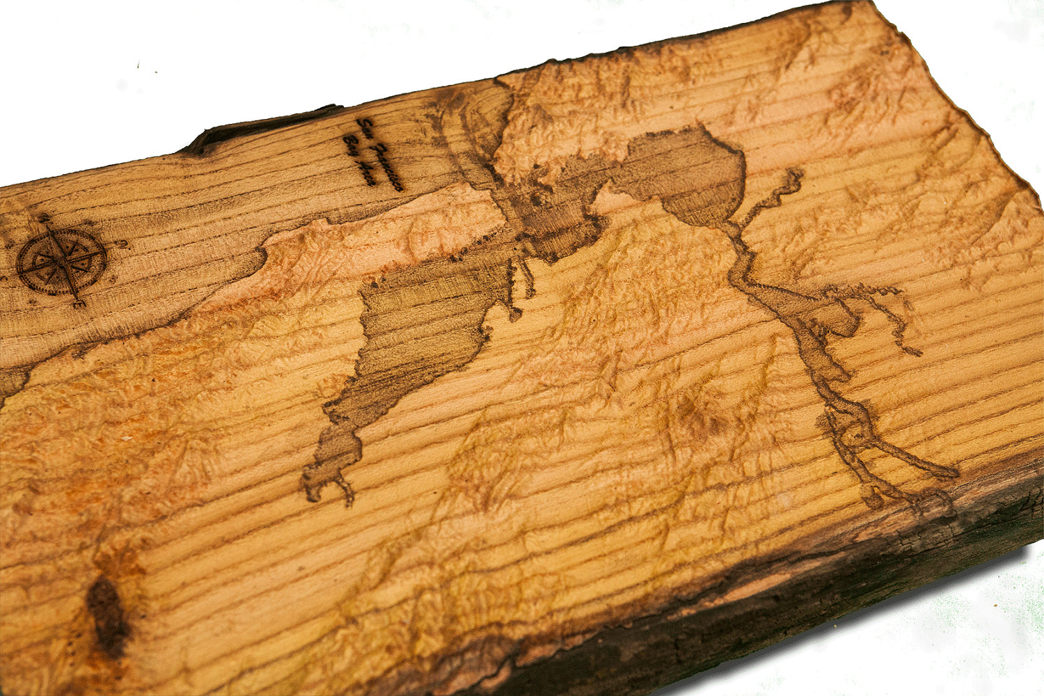 San francisco bay area topographical map from a natural for Reclaimed wood bay area ca