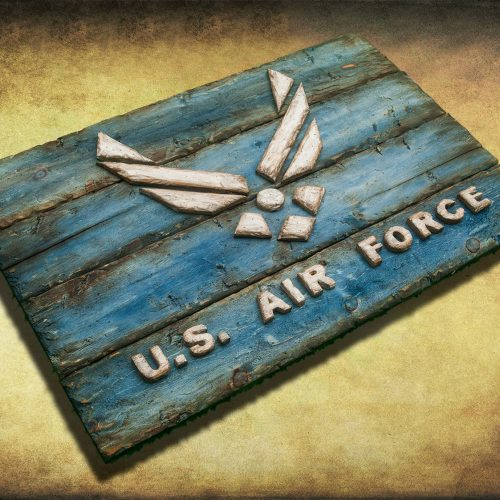 U. S. Air Force! Weathered Wood One of a kind, Wooden, vintage, art, distressed, weathered, recycled, California flag art. blue