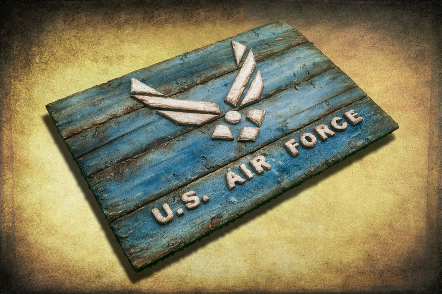 U S Air Force Weathered Wood One Of A Kind Wooden