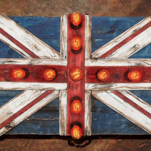 Union Jack Flag Weathered  distressed Wood flag Edison limited Edition, vintage, distressed, weathered, recycled, England, UK, London