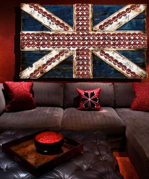 Union Jack Flag Weathered  distressed Wood flag  limited Edition, vintage, distressed, weathered, recycled, England, UK, London