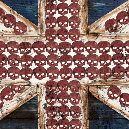 Union Jack Flag Weathered Distressed Wood Limited Edition Vintage