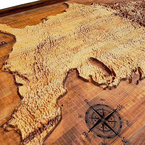 United States of America Topographical Map from a varity of wood sources,  USA, State map, vintage, rustic fine art one of a kind piece.