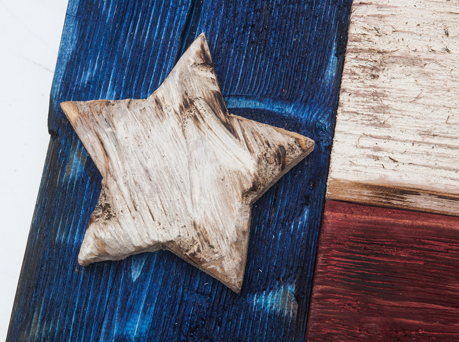Weathered Wood One Of A Kind 3D Texas Flag, Wooden