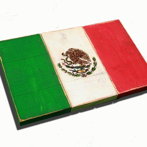 Weathered Wood One of a kind Mexico flag, Wooden, vintage, art, distressed, weathered, recycled, Mexican flag art. wedding