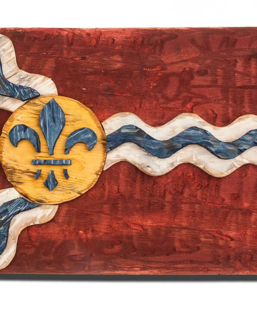 Weathered Wood One of a kind Saint Louis flag, Wooden, vintage, art, distressed, Missouri, recycled, Red. wedding, home decor, St. Louis