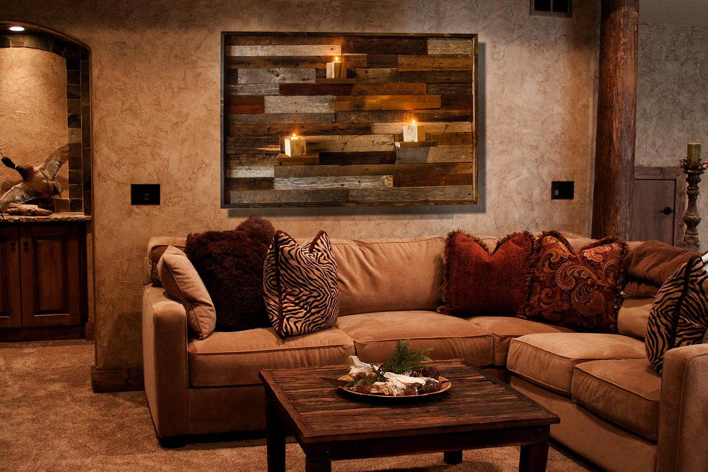 Wood Wall Art, With Floating Wood Shelves, Made Of Reclaimed Barnwood,  Different Sizes