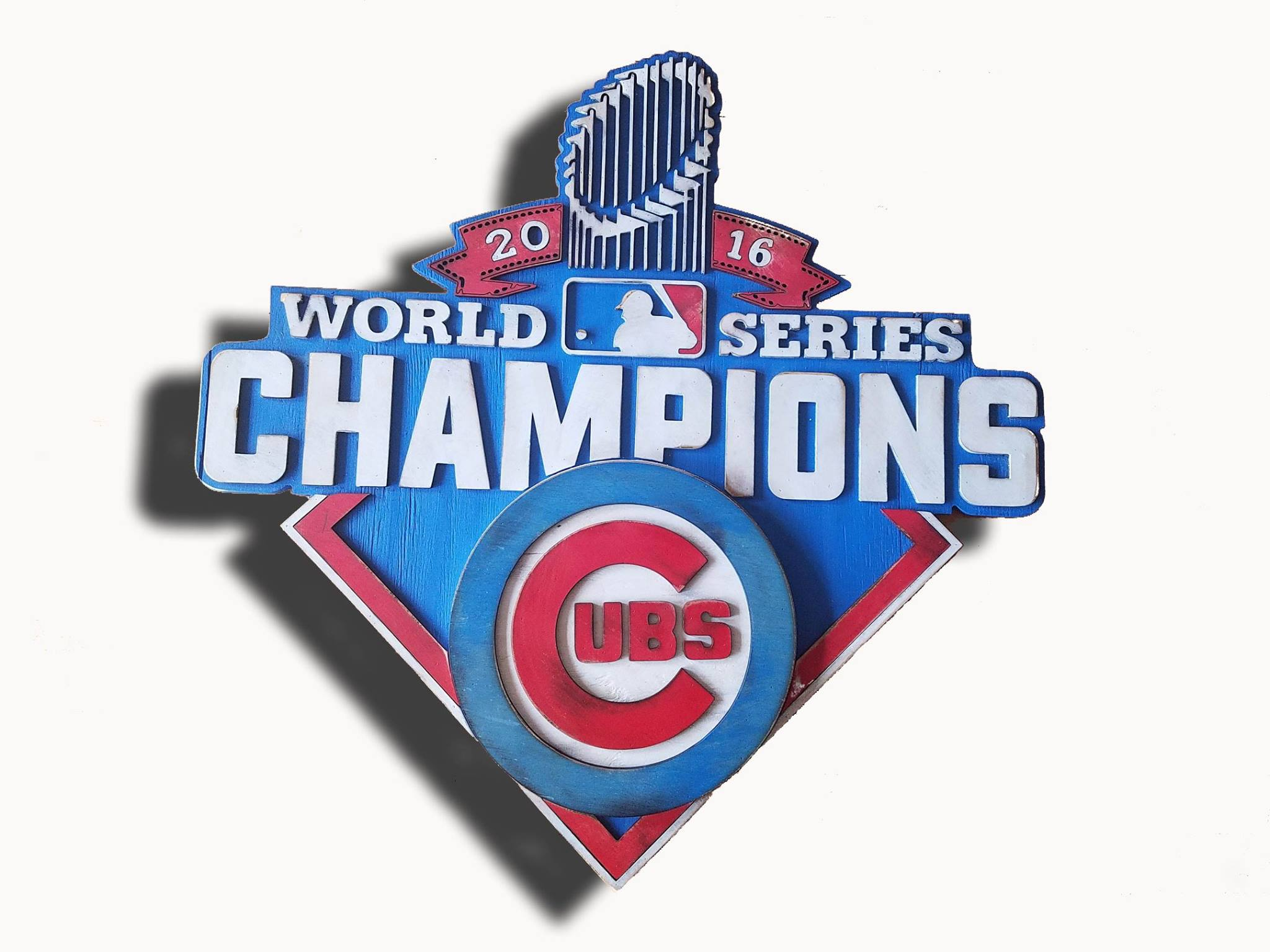 Chicago Cubs World Series Champions Wooden Sign